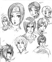 Naruto Oc group head 2 by cvsnb