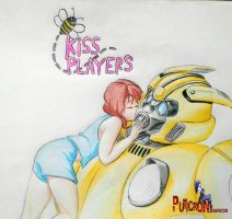 transformers bumblebee movie 2018 kiss player by puticron