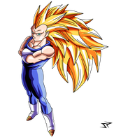 Vegeta SSJ3 proud pose by JonathanPiccini-JP