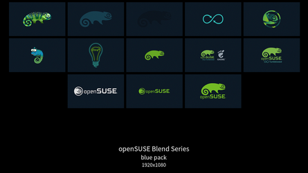 openSUSE Blend Series - blue pack by DarthWound