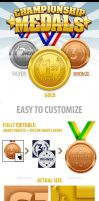 Championship Medals by doghead