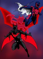 Batman Beyond and Spider-Man 2099 by edCOM02
