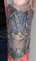 optimus prime tattoo by graynd