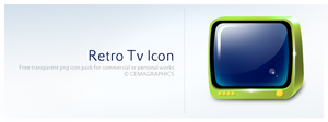 Retro Tv Icon by cemagraphics