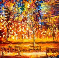 View From The Park by Leonid Afremov by Leonidafremov