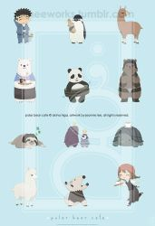 Polar Bear Cafe Print by junosama