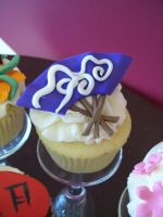 japanese fan cupcake by see-through-silence