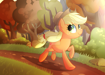 Running Of The Leaves by DrawnTilDawn