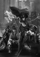 Shadowrun Berlin Black Flag by raben-aas