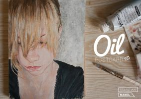 OIL POSTCARD       I'm sure you'd see into my eyes by Sebastian-Nabel