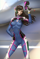 D.Va . Overwatch by suicuneart