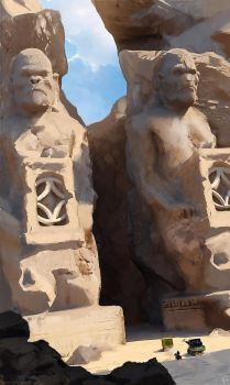 Egypt / Planet of the Apes tribute by gregmks