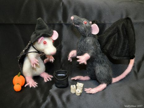 Halloween Rats! by wolfysilver