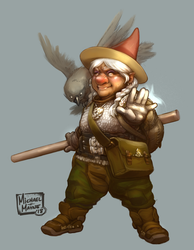 Gnome Wizard, F'lolio HoomHoffer by MichaelMayne