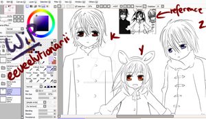 Kaname, Yuuki and Zero Work in Progress by Eeveelutionarii