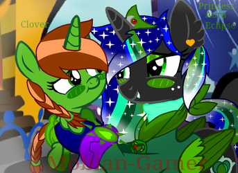 Aura and clover by Mobian-Gamer