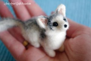 Needle felted Canadian Marble fox by SaniAmaniCrafts