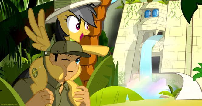 Daring Do And The Temple Of Undine ~ Commission by PonyEcho