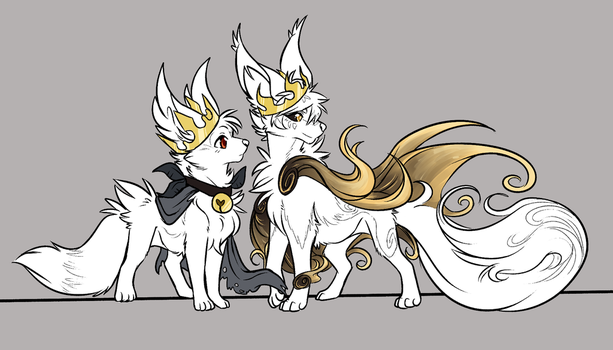 KING and QUEEN by ThatWildMary