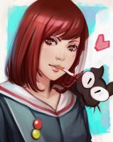 Mamimi from FLCL sketch by Justb1aze
