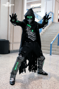 Plague knight - Illuminated Armored Cyber Doctor by TwoHornsUnited