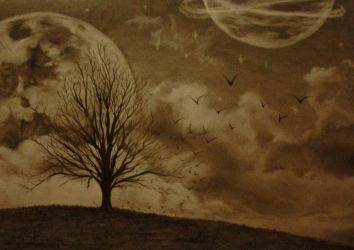 lonely tree by Adaptic