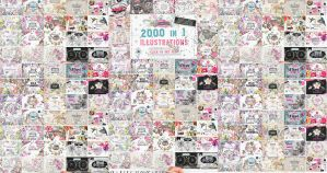 80%OFF!2000 graphics in 1 bundle. by GraphicAssets