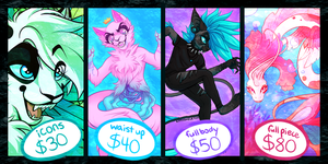 COMMISSION INFO(RULES/ORDER FORM IN DESCRIPTION) by kitty-skeleton