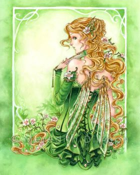 Lady in Green by MeredithDillman