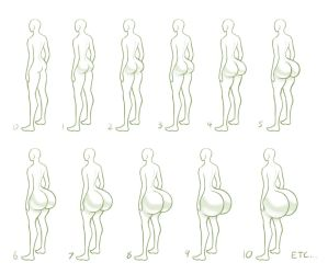 Size Chart #3: Butt by MoxyDoxy