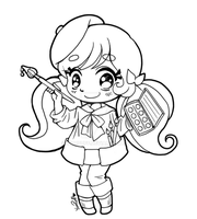 Little Artist Chibi ::Open Lineart:: by YamPuff