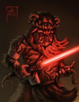 Darth Maul Ewok by zae1X