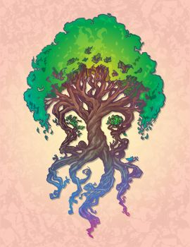 Yggdrasil Tree of Life by Spubba