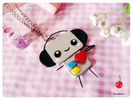 Robbie Loves Music necklace by adrybsk