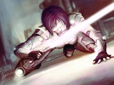 Ghost in the Shell - commish by Dahlieka