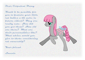 Snuzzle Letter by CorpulentBrony
