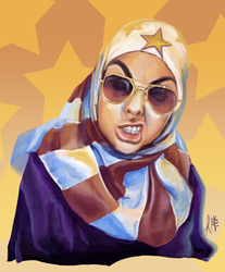 Badass Muslim Girl by racehell