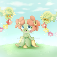 Bellossom and Comfey~