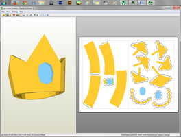 Adventure Time - Prince Gumball's Crown Papercraft by aiko-chan14