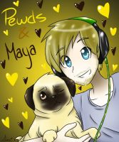 Pewds and Maya by Animorphs1