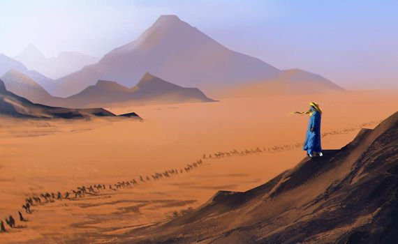 Desert trek by Lirerive