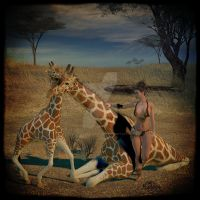 Giraffe and Baby, by thekatster (TOTW) by FantasiesRealmMarket