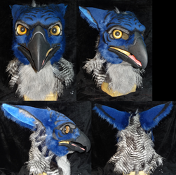Artistic Liberty Blue Gryphon by DreamVisionCreations