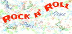 Peace love rock 'n roll by BlueClydesdales57