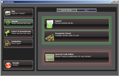 Early Mockup of Next GUI by phresnel