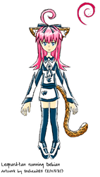 Debian Leopard-tan -colored- by foxhead128