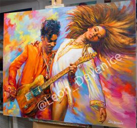 Prince Oil Painting on Canvas by Leon Devenice by leondevenice