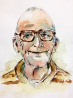 Watercolor portrait of Old Man by young920