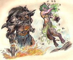Shaman vs Druid by Asalgor