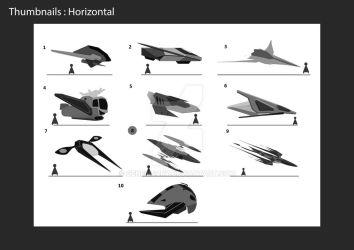 Spaceship thumbnails 1 by GenesisCry